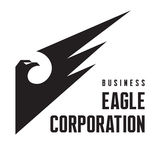 Eagle Corporation - Logo Sign pour la société commerciale Photo libre de droits