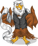 Eagle count. Vector Eagle count character stock illustration