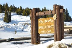 Eagle County Welcome royaltyfri fotografi