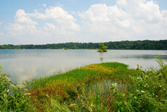 Eagle Creek Reservoir, Indiana, USA. Beautiful view of the reservoir in Eagle Creek Park, Indiana, USA Royalty Free Stock Image
