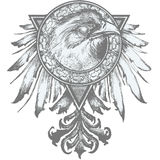Eagle Crest Illustration royalty free stock image