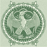Eagle Currency Seal Royalty Free Stock Images