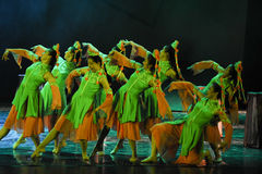 Eagle dance-The dance drama The legend of the Condor Heroes. In December 2, 2014, a large Chinese dance drama the legend of the Condor Heroes for the first time Stock Photography