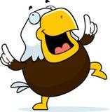 Eagle Dancing calvo stock de ilustración