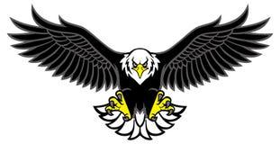 Eagle-de mascotte spreidde de vleugels uit Stock Foto's