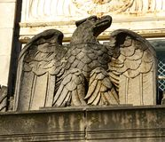 Eagle decoration on an old art deco building. royalty free stock image