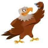 Eagle die selfie maken Stock Afbeeldingen