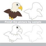 Eagle. Drawing worksheet. Royalty Free Stock Photos
