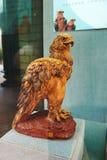 Eagle _drewniana jama Obraz Royalty Free
