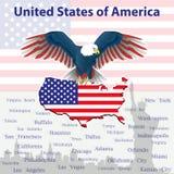 Eagle is een symbool van Amerika Stock Afbeeldingen
