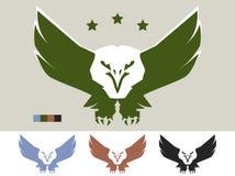 Eagle-embleem Stock Foto