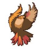 Eagle-embleem op witte vectorillustratie wordt geïsoleerd die Amerikaans symbool van vrijheid Royalty-vrije Stock Foto's