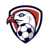 Eagle-embleem voor een voetbalteam Stock Foto