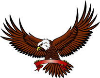 Eagle with emblem Royalty Free Stock Photos