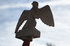 Eagle emblem carried by French Napoleonic troop Royalty Free Stock Photography