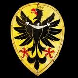 Eagle Emblem gammal sköld Royaltyfri Foto