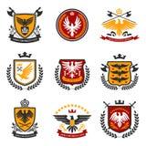 Eagle Emblem Set Royalty Free Stock Photos