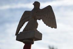 Eagle emblem som bärs av den franska Napoleonic soldaten Royaltyfri Fotografi