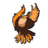 Eagle emblem som isoleras på den vita vektorillustrationen Amerikanskt symbol av frihet Royaltyfria Foton
