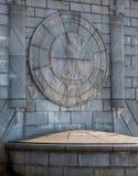 Eagle Emblem Stonework sul ponte commemorativo di Arlington - Washin immagini stock libere da diritti