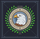 Eagle emblem Royalty Free Stock Image
