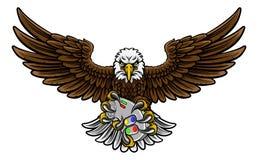 Eagle Esports sportów Gamer maskotka Zdjęcia Royalty Free