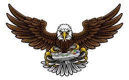 Eagle Esports Sports Gamer Mascot lizenzfreie abbildung
