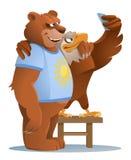 Eagle et ours de sourire faisant le selfie illustration de vecteur