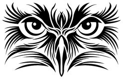 Eagle eyes tattoo Stock Photo