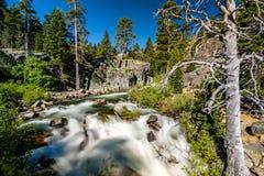 Eagle Falls bij Meer Tahoe - Californië, de V.S. stock foto's