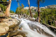 Eagle Falls bij Meer Tahoe - Californië, de V.S. stock foto