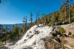 Eagle Falls bij Meer Tahoe - Californië, de V.S. royalty-vrije stock fotografie