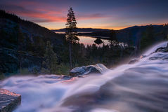 Eagle Falls Early Morning Kalifornien Lake Tahoe Arkivbild