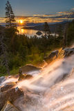 Eagle Falls Early Morning. Lake Tahoe, California. Eagle Falls is a popular waterfall in South Lake Tahoe. It`s just off Highway 89 Royalty Free Stock Images