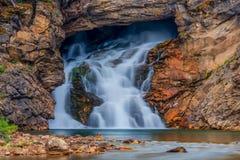 Eagle Falls Glacier National Park de corrida Foto de Stock Royalty Free