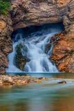 Eagle Falls Glacier National Park de corrida Fotografia de Stock Royalty Free
