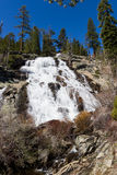 Eagle falls. In Lake Tahoe, California, powerful water flowing over solid rock Royalty Free Stock Photo