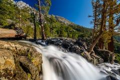 Eagle Falls på Lake Tahoe - Kalifornien, USA Arkivfoton