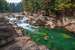 Eagle Falls, Skykomish River, Washington State. Eagle Falls is fed by the Skykomish River in Washington State Stock Images