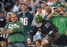 Eagle Fans. Philadelphia Eagle fans cheer on their team against divisional rival the Dallas Cowboys in a 2009 game Stock Photography