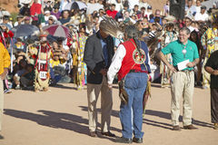 Eagle Feather Smudging of Senator and Mrs. John Kerry by Intertribal Council President, Gallup, NM Stock Photography
