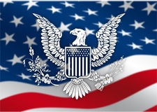 Eagle_flag Stock Images
