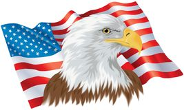 Eagle and Flag Royalty Free Stock Photography