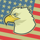 Eagle flag Royalty Free Stock Images