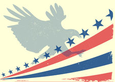 Eagle flag Stock Photography