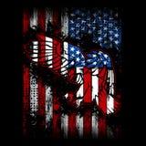 Eagle Flag Of USA royaltyfri illustrationer