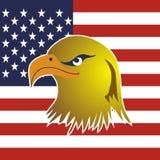 Eagle & flag vector Royalty Free Stock Photos