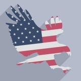 Eagle flaga Zdjęcie Stock