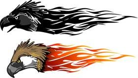 Eagle Flames Set filippino illustrazione vettoriale