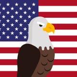 Eagle Flat Design Vector Illustration chauve Images stock